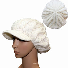 Леди мода акрил шерсть вязаная Зимняя Шапочка берет шляпу (YKY3114)
