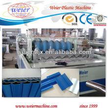 resina sintética anti-envejecimiento pmma pvc tres capas para techos de hoja máquina
