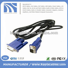 Male To Female 15 pin monitor extension cable