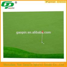 Alfombra verde de golf de alta calidad de césped artificial