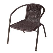 Modern Garden Outdoor Furniture PP Plastic Rattan Stackable Chairs