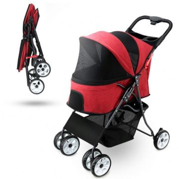 Hot Car Pet Dog Stroller Travel Trolley