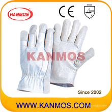 Оптовая Промышленная безопасность Свинья зерна Драйвер кожаные рабочие перчатки (22205)