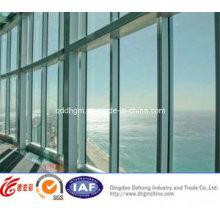 Perfil de alumínio moderno UPVC / janela fixa de alumínio