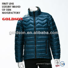 Men high quality feather weight genuine duck down jacket
