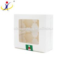 Boîtes faites sur commande d'emballage alimentaire imprimées par couleur faites sur commande de mariage pour le petit gâteau