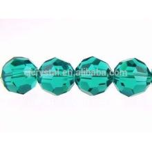 Flache runde Kristallglasperlen, Großhandelsrunde Glasperlen