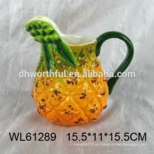 Jarra de agua de cerámica forma de piña de Promotinal