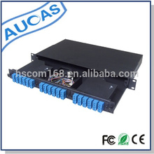 1U Rack montiert 24 Port Patch Panel Faseroptik Patch Panel Factory Preis