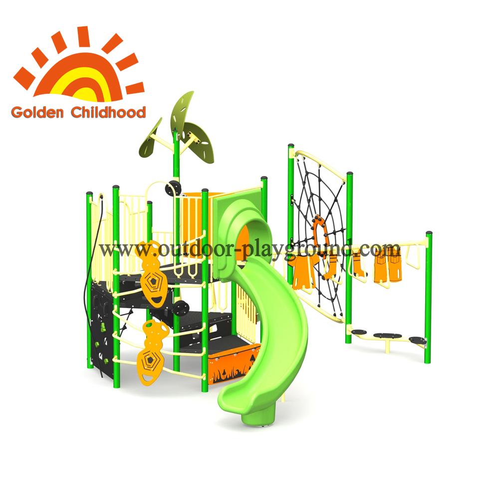 Light Green Outdoor Playground Equipment