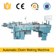 Máquina de fabricación de cadena automática, doblado de cadena y soldadora