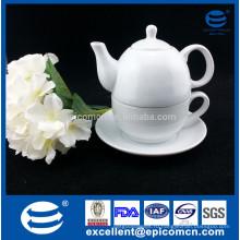 Цвет / коробка подарка упаковка один человек использование высокий белый фарфор чай горшок cup комплект с логотипом
