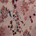 Pink Flower Active Printed Rayon Plain Stoff