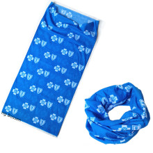 Customized Design Printed Sublimation Printing Polyester Blue Tube Buff Headband