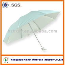 Blaue billig Großhandel Regenschirm mit Silberbeschichtung