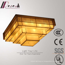 Lámpara de techo cuadrada de múltiples capas decorativa de alta calidad del hotel de la alta calidad