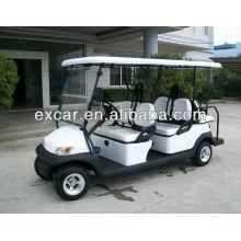 4 carros de golf con pilas de 4 plazas