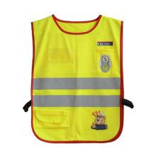 Colete refletivo de néon de segurança de alta visibilidade de bolso de tira de crianças (yky2801)