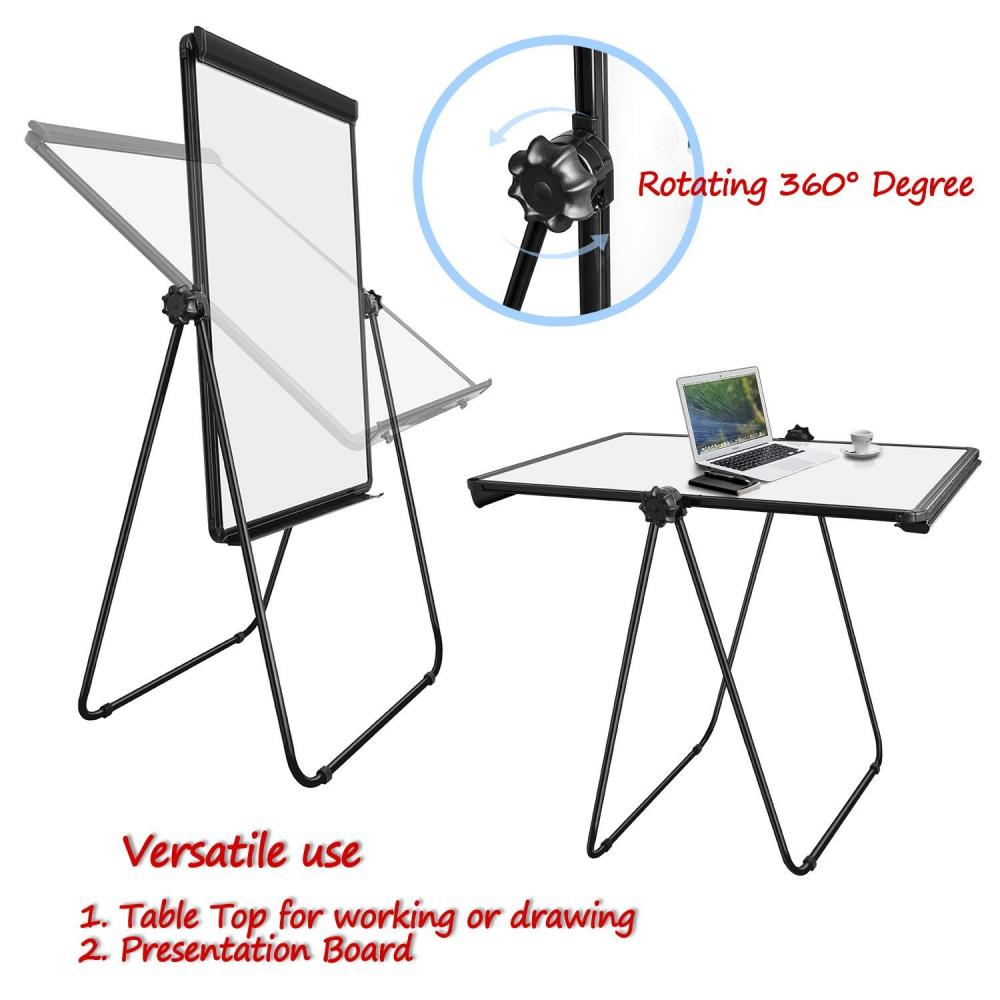 Office double sided using magnetic flipchart