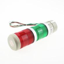 Lámpara de advertencia de señal LED verde y roja, luz de torre industrial