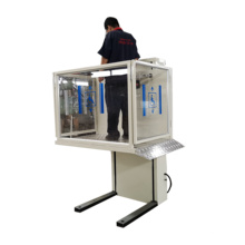 Mini silla de ruedas Porche elevador 1M elevador residencial hidráulico silla de ruedas vertical para discapacitados