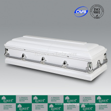 LUXES American Style Coffin Bed White Colored Caskets For Funeral