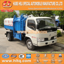 Hot sale low price 5m3 NEW dongfeng 4x2 side loader garbage collector truck diesel engine