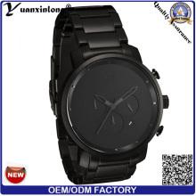 Yxl-114 Stainless Steel Watch Black Wristband Luxury Hot Sale Men′s Watch Automatic Chronograph Quartz Hand Watch