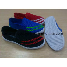 Canvas Injection Shoes, Casual Outdoor Lady Shoes with PVC Outsole, Full Color Women Shoes