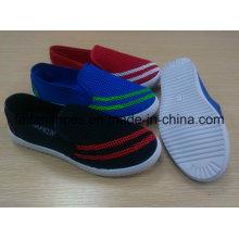 Sapatos de lona de injeção, Casual Senhora ao ar livre Sapatos com PVC Outsole, Sapatos de mulheres de cor completa