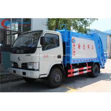 Brand new Dongfeng 95hp 4cbm caminhão de lixo compactador