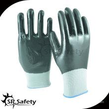 SRSAFETY 13G knitted nylon full coated reusable nitrile gloves