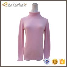 Latest fashion pure cashmere pullover women with crew neck