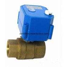 2-Wege-Messing Motor betrieben Wasser Kugelhahn für HVAC