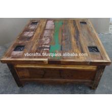 мелиорированных древесины журнальный столик с ящик для хранения