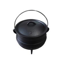 South Africa Black Painting Camping 3 Legs Pot Cast Iron Cauldron