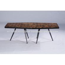 Mesa de café de madera Hexa de madera industrial del bloque del vintage