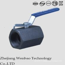 Robinet à tournant sphérique forgé à haute pression en acier au carbone à alésage réduit
