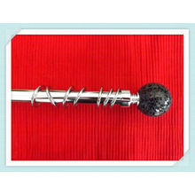 28mm Diamond Ball Brushed Nickel Curtain Pole