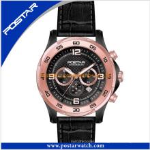 Mann-Art- und Weisemultifunktions-mechanische Uhr-echtes Leder-Band Psd-2903