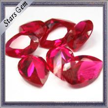 Pear Shape 3X4mm Brilhos Brilhantes # 5 Vivid Red Lab Ruby