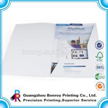 Pastas de arquivo de papel da empresa impressa personalizada
