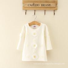 Lange Baumwolle Daidy Baby Atmungsaktive Baumwolle Mode Dame Kleid für Frauen Kleidung One Piece Mädchen Frauen Kleid Floral Kleider weiß
