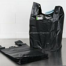 Большая пластиковая сумка для продуктовых футболок, обычная белая сумка для переноски