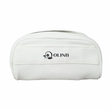 Großhandelsgewohnheits-Logo Canvas Cotton Cosmetic Zipper Bag