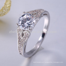 Anéis de prata esterlina ajustáveis mais recente design de anel de prata