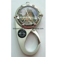 Metallic Carabiner Clip on Watch