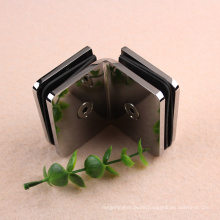 Glass to glass 90 degree clip clamp for tempered glass door