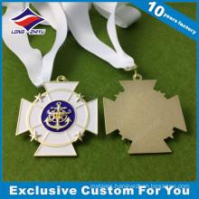 Unique Shape Custom Athletic Metal Medal Medallion