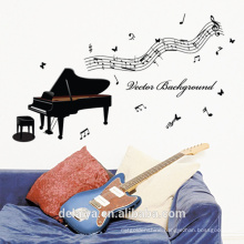 Music Notes & Piano PVC Window Wall Sticker